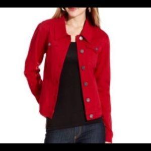 - Gap red denim jacket